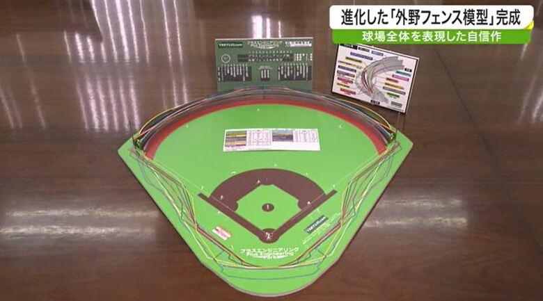 野球は奥深い!「超マニアな外野フェンス模型」完成 解説者・里崎智也さんの反応は?
