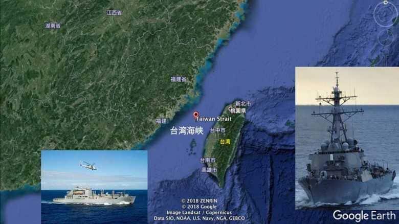 """米海軍イージス艦、台湾海峡通過 台湾は米本土防衛の""""目""""か"""