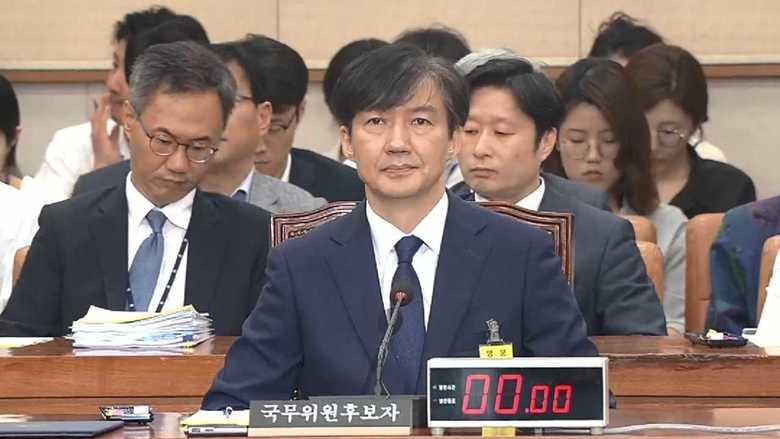 """韓国""""疑惑のタマネギ男""""チョ・グク氏の聴聞会始まる!"""