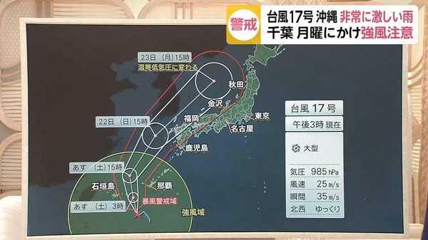 17 号 進路 予想 台風