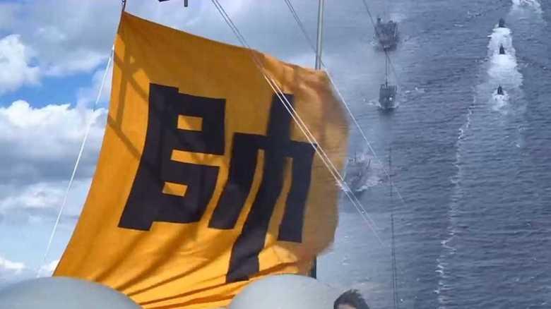 """""""旭日旗""""自粛要請の一方で…韓国が掲げた""""抗日英雄の旗""""は「行き当たりばったり対応」"""