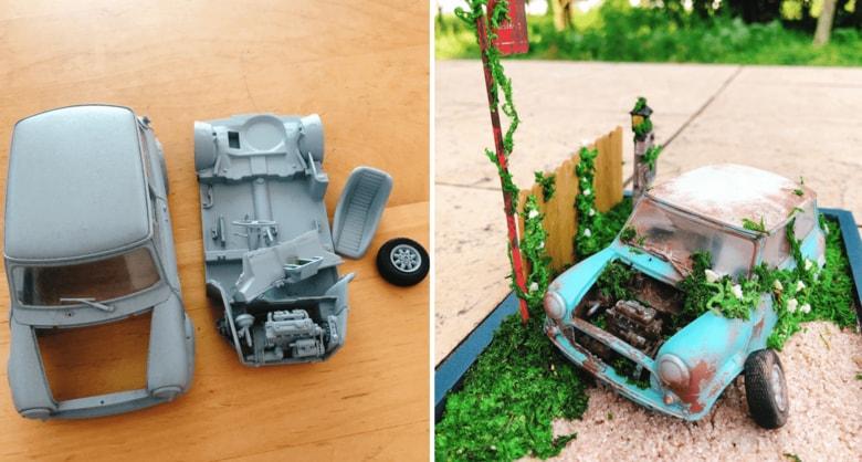 4歳息子が壊した夫のプラモデル 「捨てちゃうなら…」と妻がリメイクした出来栄えがすごい!