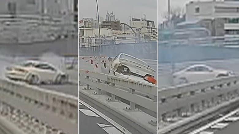 【独自】「覚悟した」対向車線の運転手を恐怖に陥れた首都高の事故…3回激突の一部始終がドライブレコーダーに