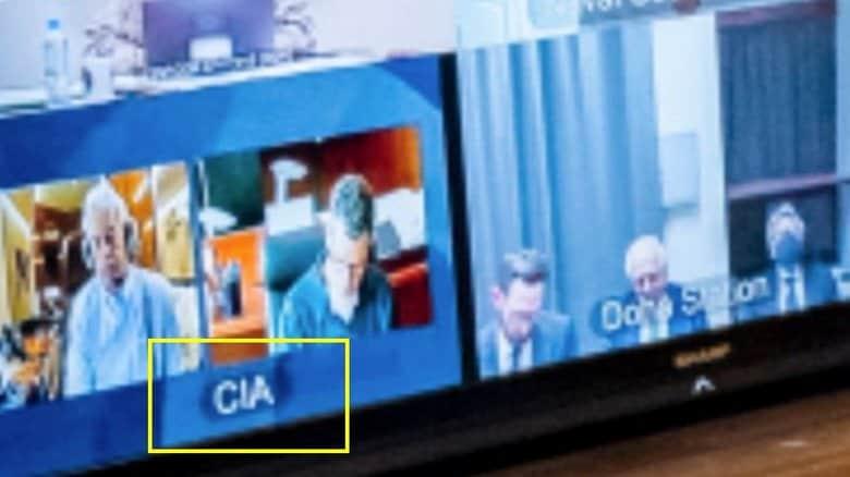 ホワイトハウスのマルチ画面に「CIA」の文字がくっきり!アフガン対策会議中に機密情報がダダ漏れ