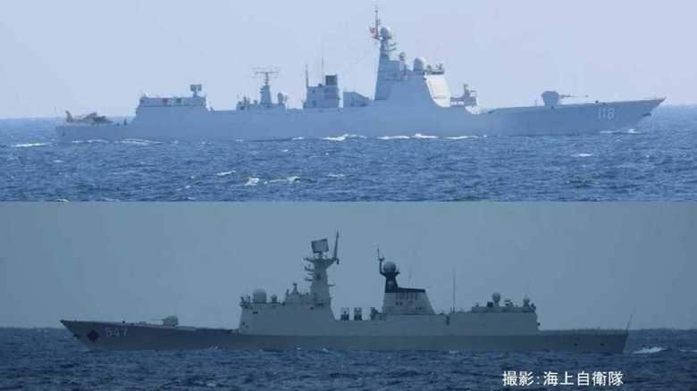 射程540km対艦ミサイル搭載可能な「中国版イージス」など中国艦3隻が対馬海峡を通過