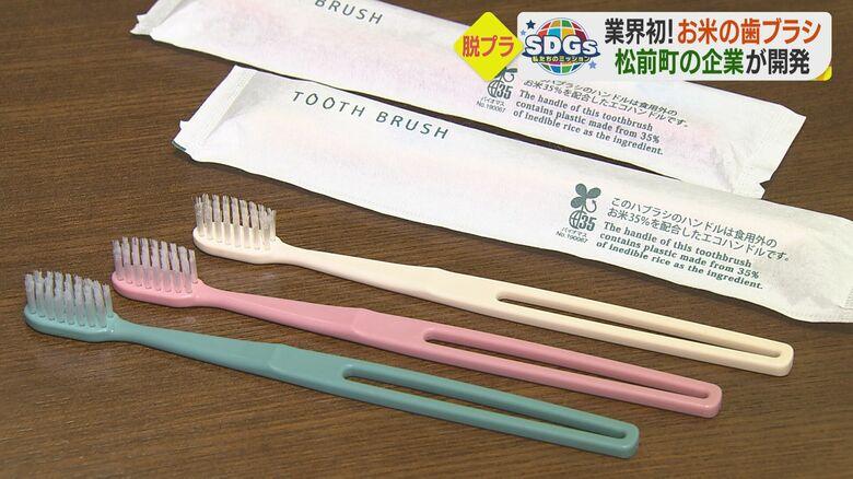 業界初!お米からできた歯ブラシ プラ削減し、環境に配慮 全国のホテルが注目【愛媛発】