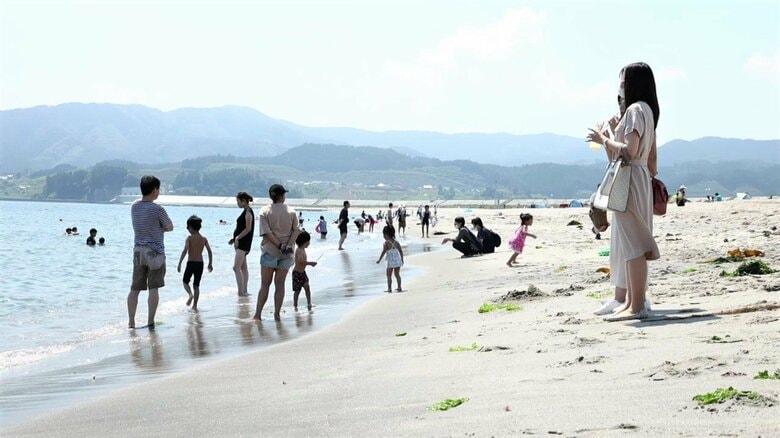 震災から11年ぶり海開き 津波と地盤沈下で松7万本と砂浜の9割消失も…街の誇り取り戻す【岩手発】