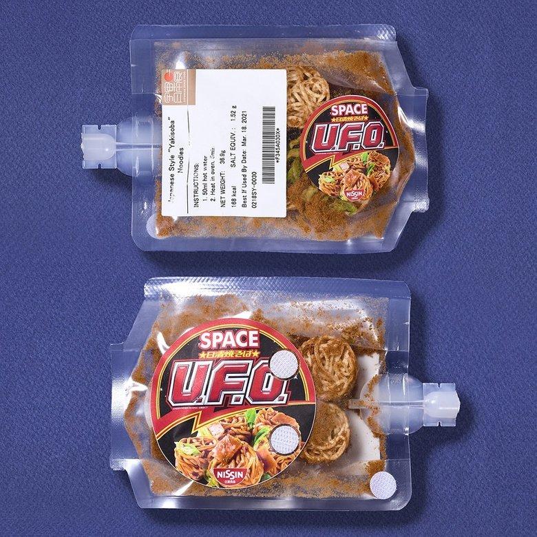 """焼そば「U.F.O.」が宇宙へ…""""宇宙日本食""""に認証! 日清食品に市販品との違いを聞いた"""