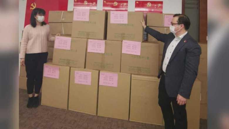 """友好都市に送ったマスク「返して」…市長の訴えに中国側が""""10倍返し""""の5万枚「受けた恩返す」"""