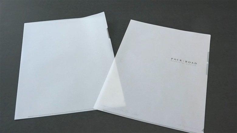"""「紙なのに透ける…」岡山市の企業が開発した""""紙製ファイル"""" 脱プラスチックを目指した挑戦"""