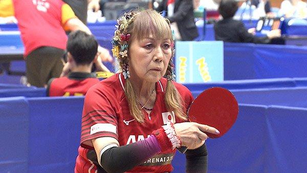 蝶の髪飾りにも気合い!パラ卓球・別所キミヱが73歳で迎えるパラリンピックへの覚悟