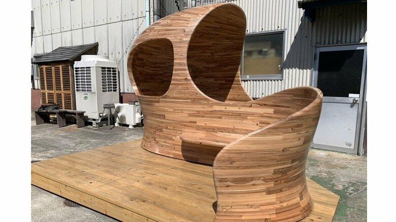 あふれる「ナメック星」感…木材で複雑な曲面 木工・家具製作会社が社内休憩所リニューアルで本気を出した