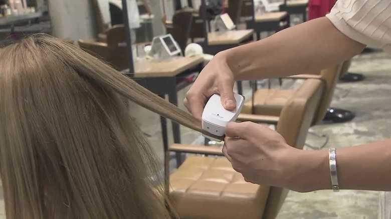 """世界初!髪のダメージを瞬時に""""診断"""" デジタルが変える美容革命"""