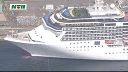【速報】長崎に停泊中「クラスター」発生のクルーズ船から乗組員の救急搬送相次ぐ
