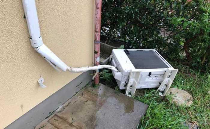 エアコン 室外 機 水没