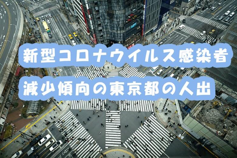 新型コロナウイルス感染者減少傾向の東京都の人出
