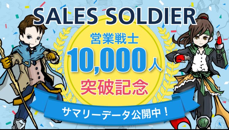 【SNSで話題沸騰】1分でわかるあなたの営業タイプ診断「SALES SOLDIER(セールスソルジャー)」利用者1万名の診断結果を大公開!