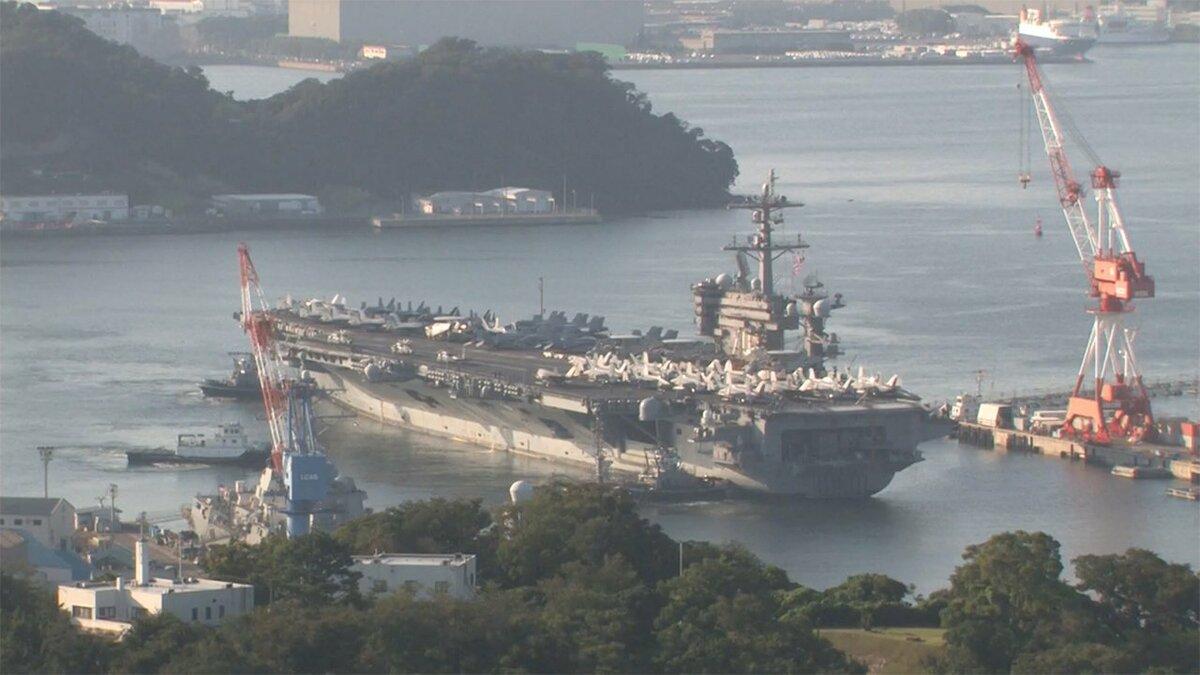 米空母「カール・ビンソン」が横須賀入港 18年ぶり 中国をけん制か