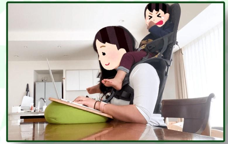 子どもを肩車、キャットタワーが机代わり…「トホホな在宅デスク」で悩む人にピップがエール