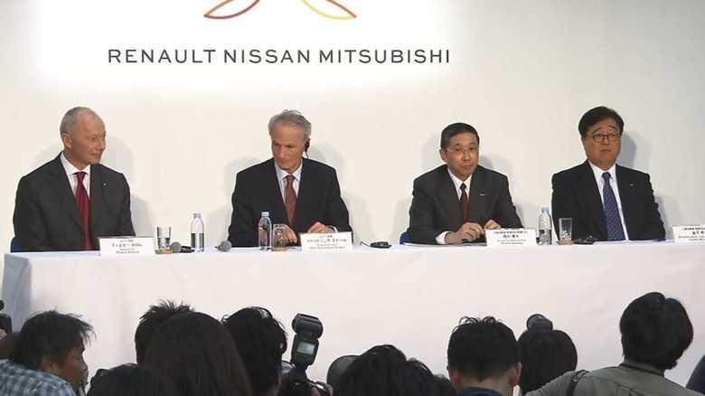 「脱ゴーン」新体制 ルノー・日産・三菱自のトップが初の共同記者会見で発表