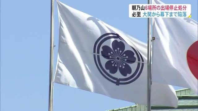 【速報】朝乃山 6場所出場停止 6カ月50%の報酬減額