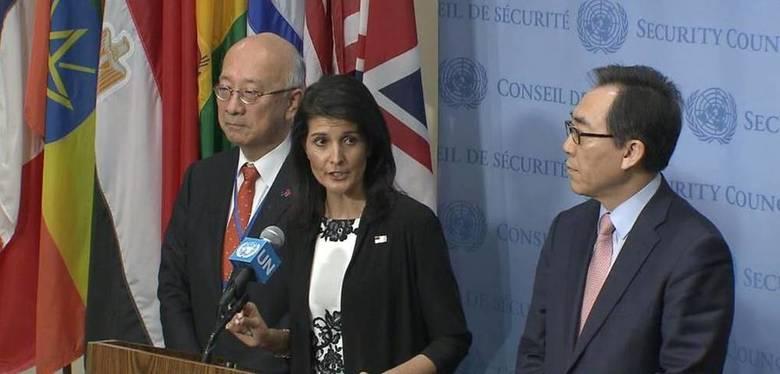ヘイリー国連大使  北朝鮮制裁「あらゆる選択肢を考える」