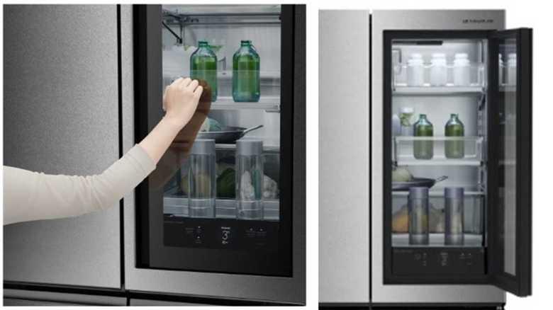 """""""ノック""""すると中が見えちゃう「冷蔵庫」が登場!?  画期的な機能をLG担当者にトントンと聞いた"""