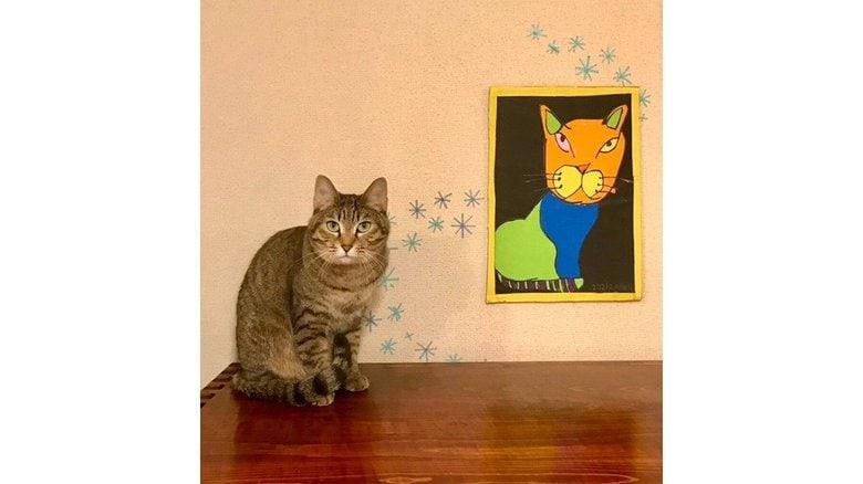 """「君の描くネコは世界で一番愛しい」7歳息子の""""アート""""に大反響…他の絵にも芸術的センスを感じる"""