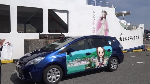 人気アニメとコラボし観光客誘致へ 小豆島にラッピングフェリーやタクシーお目見え【香川・土庄町】