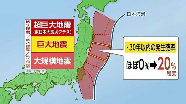 宮城沖では約20%の確率で「巨大地震」 政府が30年以内の地震発生予測を見直し