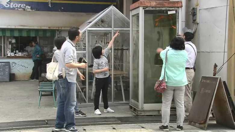 """""""金魚電話ボックス""""は著作権侵害! """"金魚の町""""商店街を美術家が提訴"""