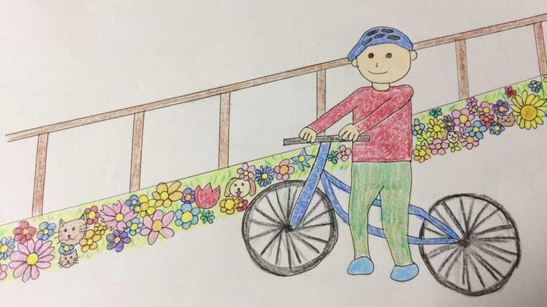 """自転車の迷惑駐輪を""""幻の花壇""""で解消!? 発案者は小2男子「人はきれいなものを汚したくない」"""