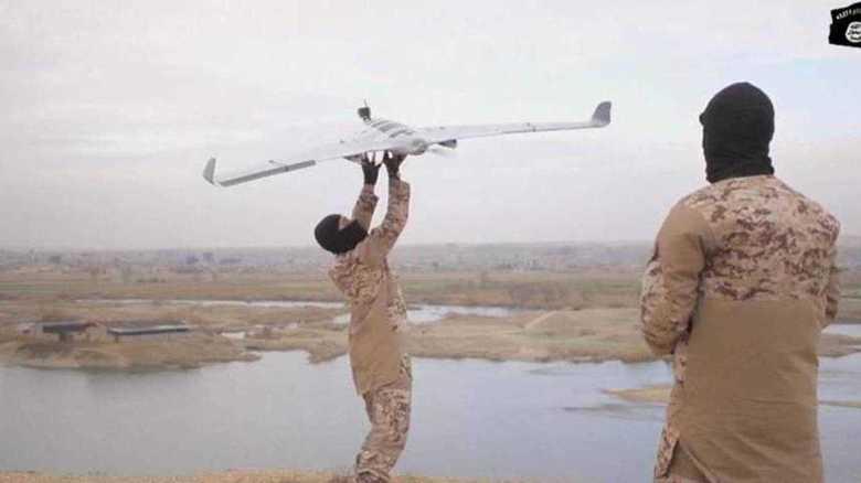 IS=「イスラム国」がドローンで爆発物投下