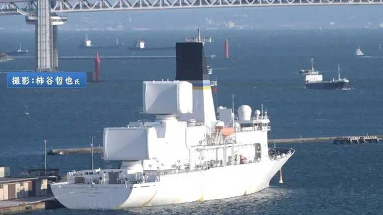 弾道ミサイル発射監視船が横浜港に入港。火星15型を監視していたのか