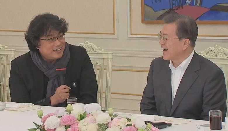 映画『パラサイト』で「独島ソング」…大統領主催昼食会で監督らが日本の観客嘲笑か?