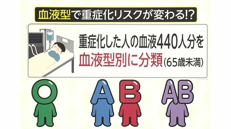 「AB型はO型の1.6倍」「A型、B型はO型の1.2倍」血液型でコロナ重症化に差?O型は重症化しにくい?