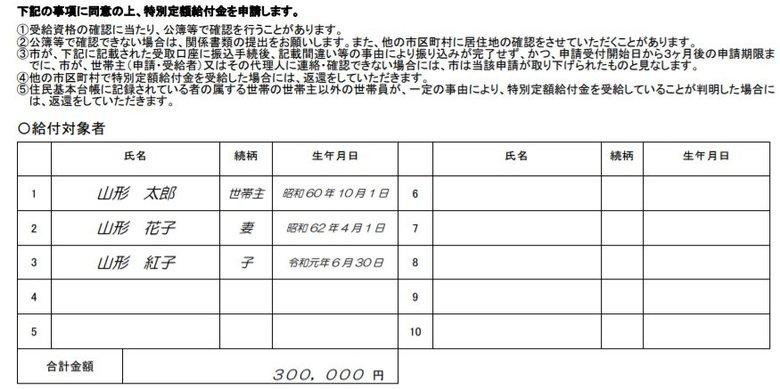 """10万円給付金「受給しない」欄を削除…""""独自の申請書""""を配布した山形市に好反応"""