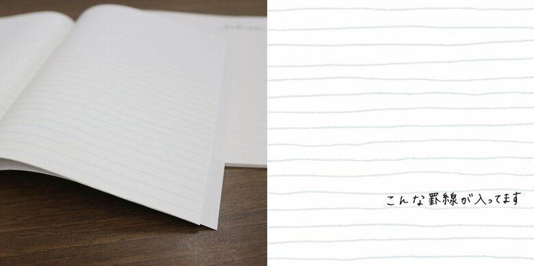 """新品ノートの1ページ目でも緊張しない!? 罫線がふにゃふにゃな「いいかげんノート」の""""いい加減""""が話題"""