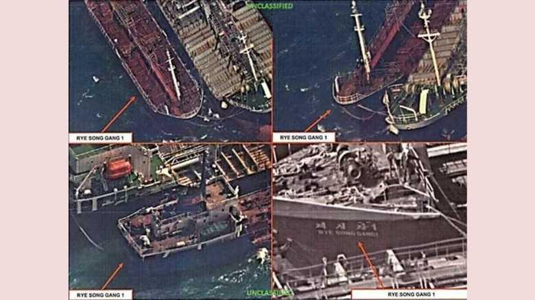 北朝鮮が制裁のがれで船から船の石油受け取り