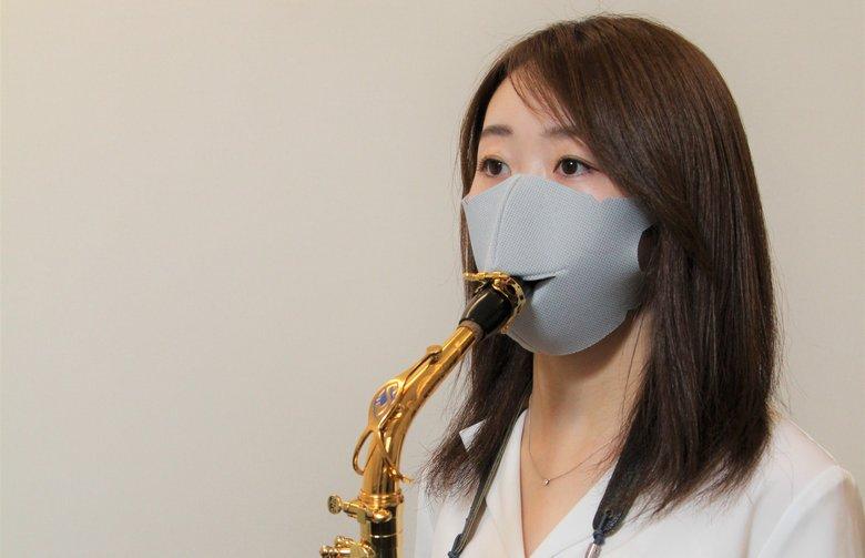 着用したまま演奏できる「管楽器対応マスク」が新しい…開発した島村楽器に聞いた